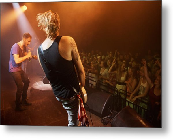 Time To Rock Out With A Solo... Metal Print by PeopleImages