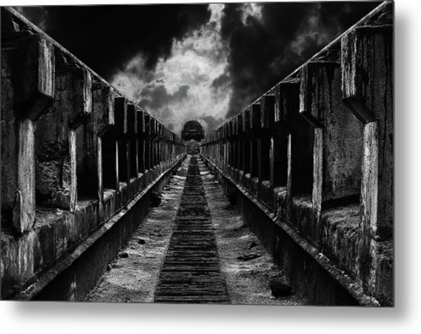 To The Train Metal Print