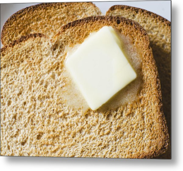 Toast With Meltin Butter Metal Print by Jamie Grill