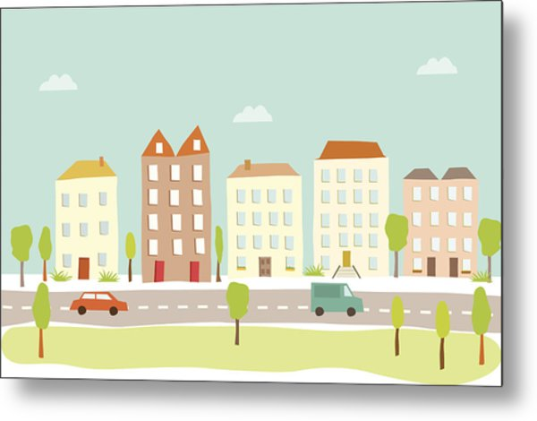 Town Houses Metal Print by Amathers