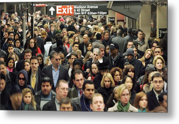 Transit Strike Looms For New York City Commuters Metal Print by Mario Tama