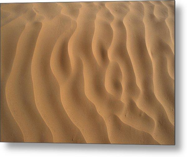 Tunisia, Sahara Desert, Ripples In Sand. Metal Print by James Hardy