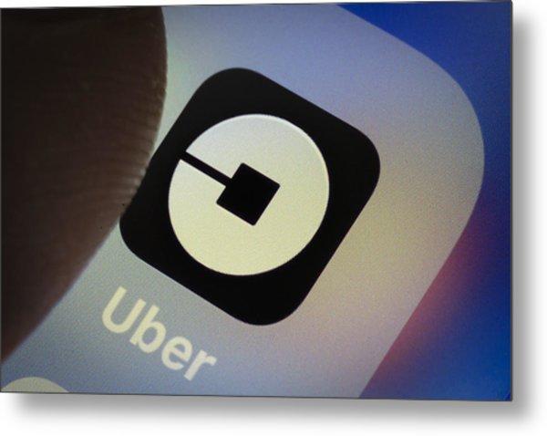 Uber App Metal Print by Thomas Trutschel