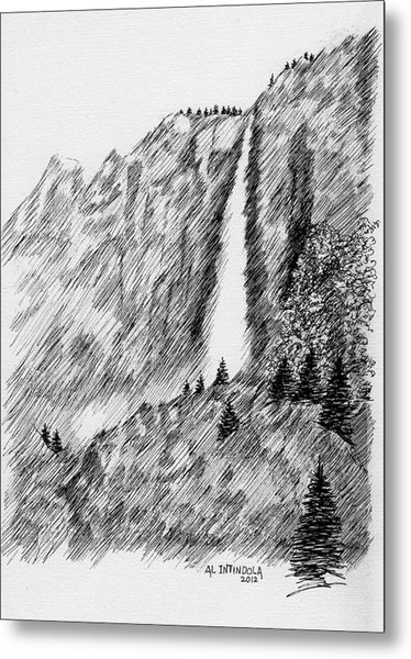 upper falls in Yosemite Metal Print