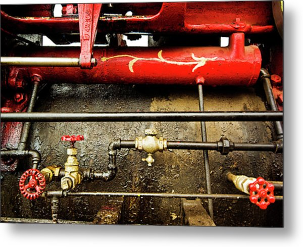 Valves Lines And Tanks Metal Print