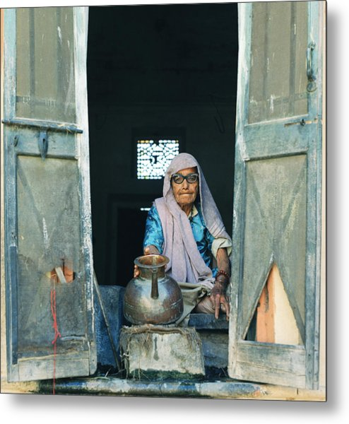 Varanasi Water Seller Metal Print