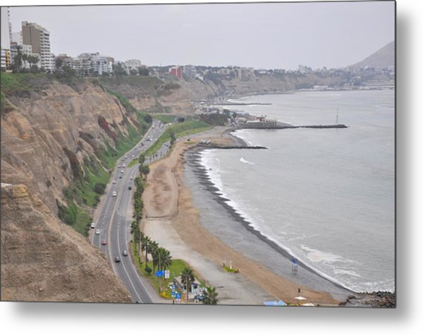 View At The Beach And The Circuito De Playas Metal Print by Markus Daniel
