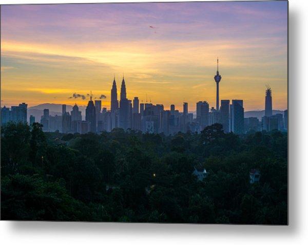 View Of Cityscape Against Sky During Sunset Metal Print by Shaifulzamri Masri / EyeEm
