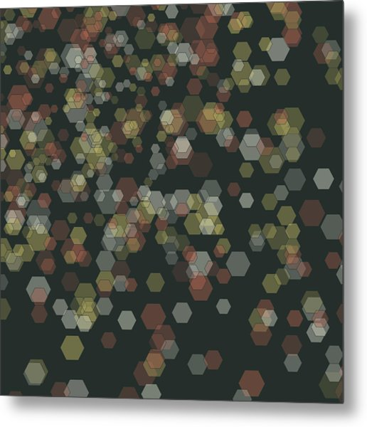 Vintage Abstract 3d Cube Background Pattern Metal Print by FrankRamspott
