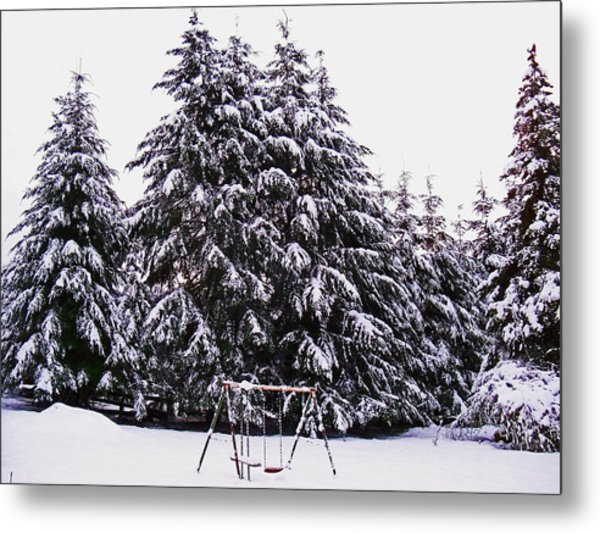 Winter White Metal Print