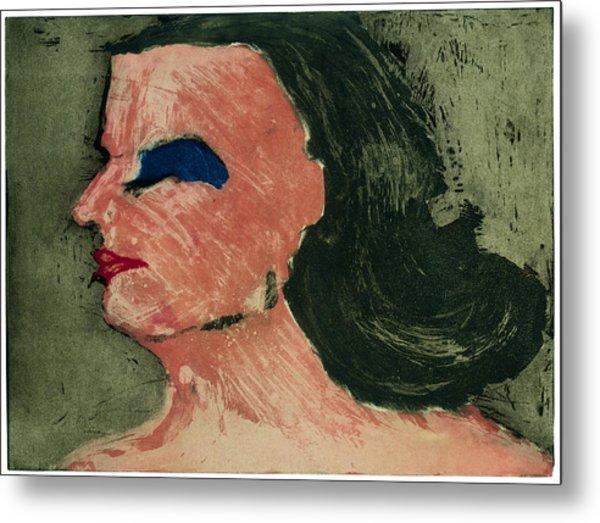 Woman's Profile Metal Print by Tim Southall
