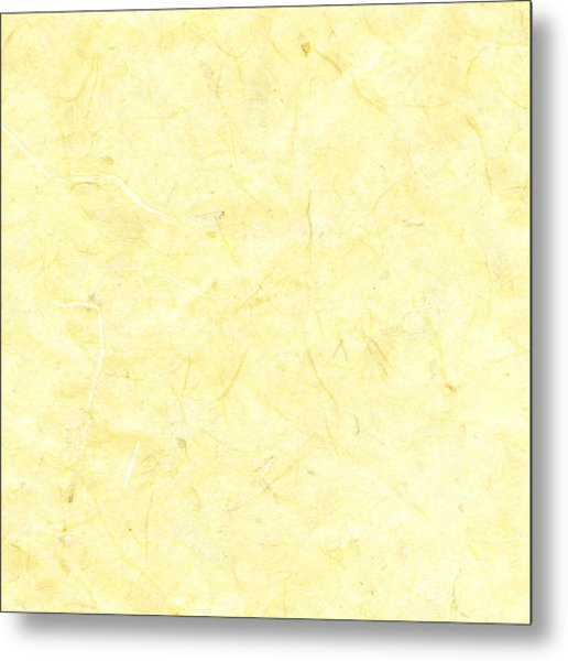 Yellow Marble Background Metal Print by Jeff Venier