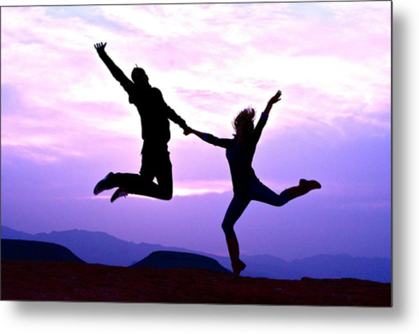 Expression Of  Elation Metal Print