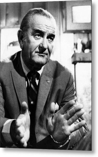 Former President Lyndon Johnson Metal Print by Everett