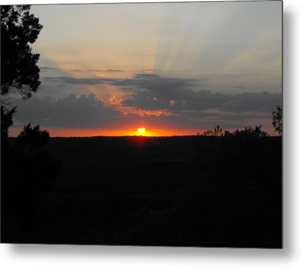 Texas Sunset Metal Print by Rebecca Cearley