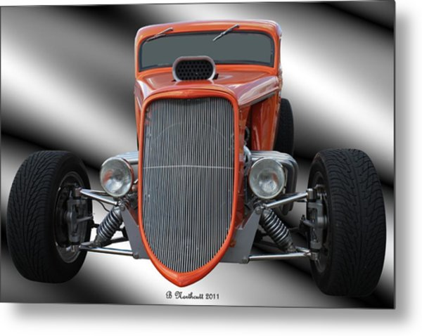 1933 Ford Roadster - Hotrod Version Of Scream Metal Print