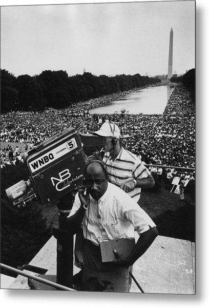 1963 March On Washington. Nbc Metal Print by Everett