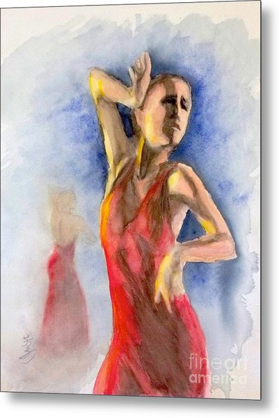 A Flamenco Dancer  2 Metal Print