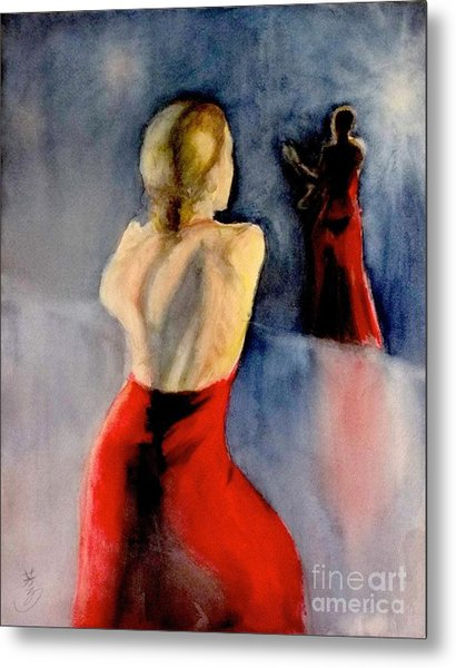 A Flamenco Dancer  3 Metal Print