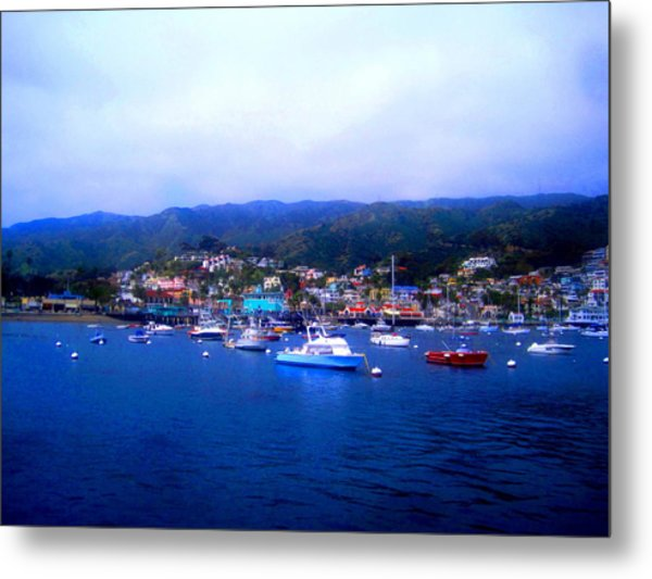 A Misty Morning In Avalon Harbor Metal Print by Catherine Natalia  Roche