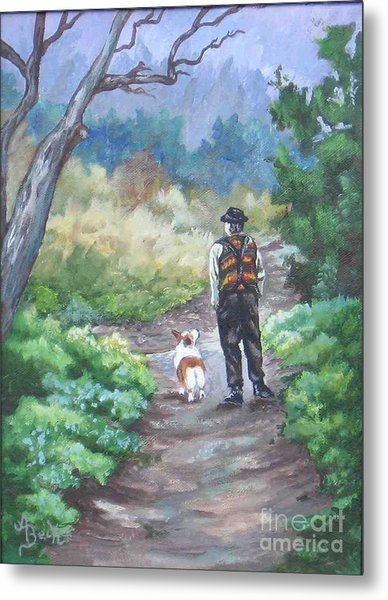 A Slow Walk In The Woods Metal Print by Ann Becker