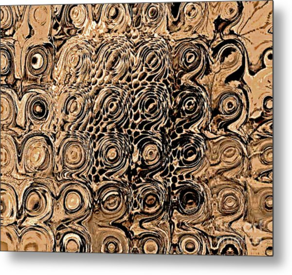 Abstract In Brown Metal Print