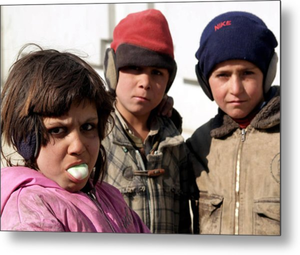 Afghan Children Metal Print