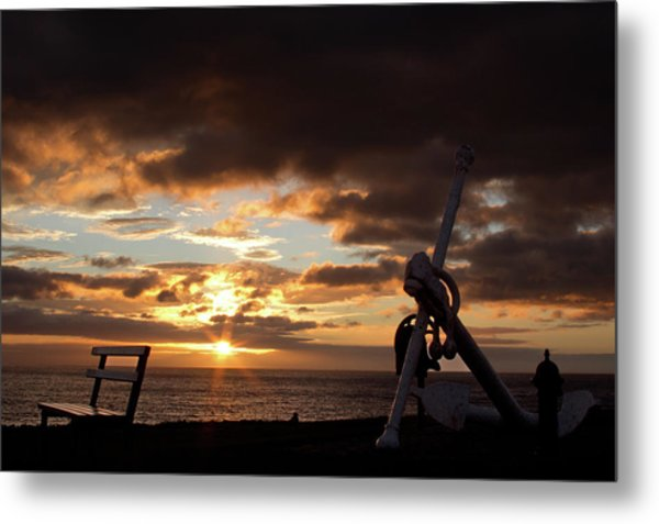 Anchored To The View Metal Print