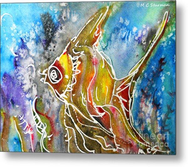 Angel Fish Metal Print by M c Sturman