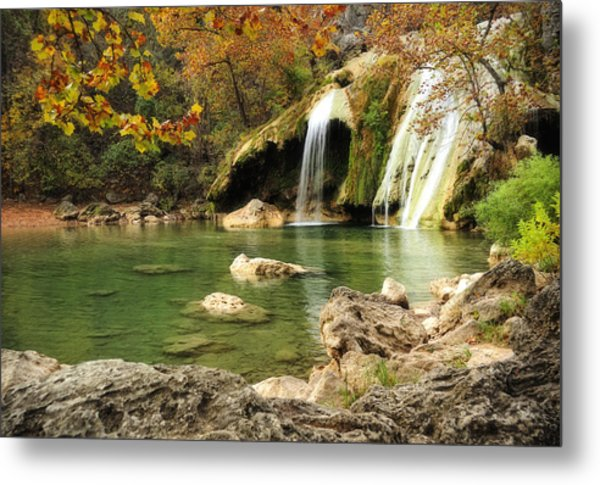 Autumn In Turner Falls Metal Print