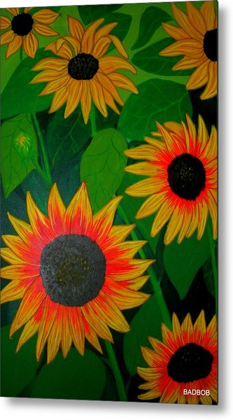 Badsunflower Metal Print
