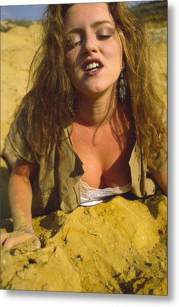 Beach Girl Metal Print by Franz Roth