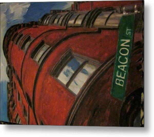 Beacon St Metal Print by David Poyant