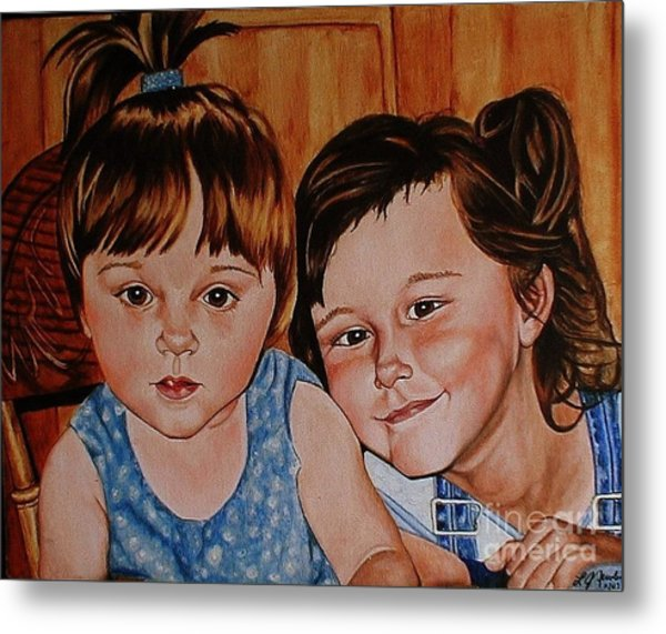 Bella And Claudia Metal Print