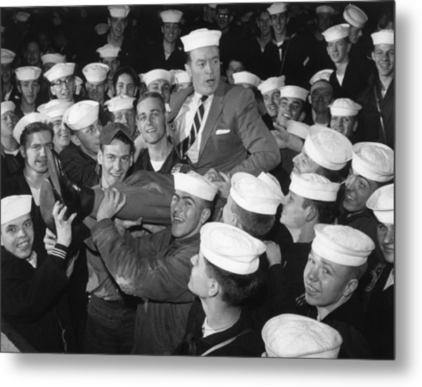 Bob Hope Entertaining Sailors Metal Print by Everett