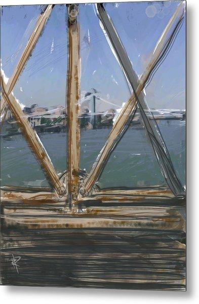 Bridge View Metal Print by Russell Pierce
