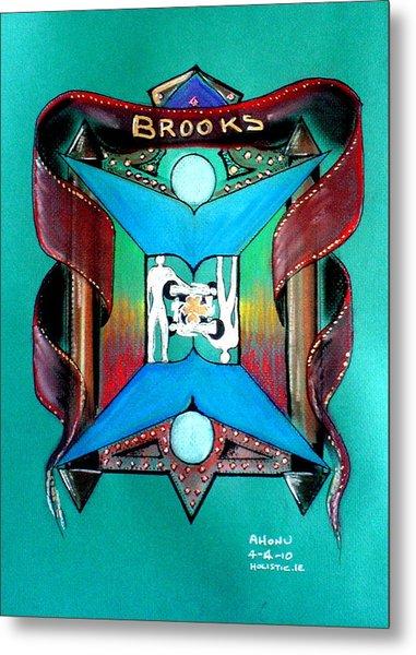 Brooks Family Crest Metal Print