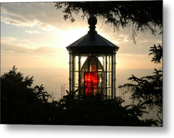 Cape Meares At Sunset Metal Print