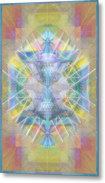 Chalice Of Vortexes Chalicell Rings On Renaissance Back Metal Print by Christopher Pringer