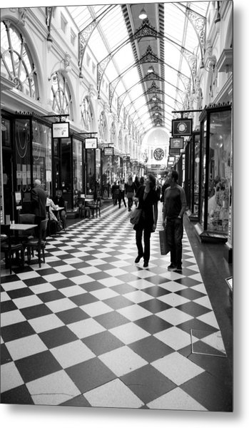 Chequered Metal Print by Lee Stickels