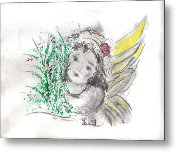 Christmas Angel Metal Print