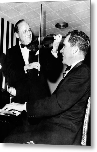 Comedian Jack Benny, With His Violin Metal Print by Everett
