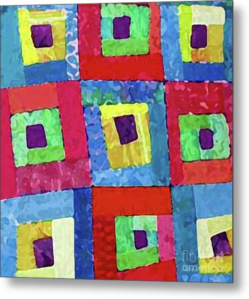 Crooked Color Boxes Metal Print by Marilyn West