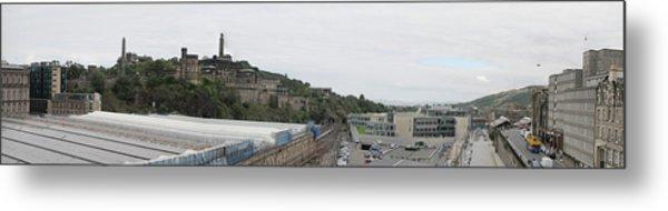 Edinburgh Station Panorama Metal Print