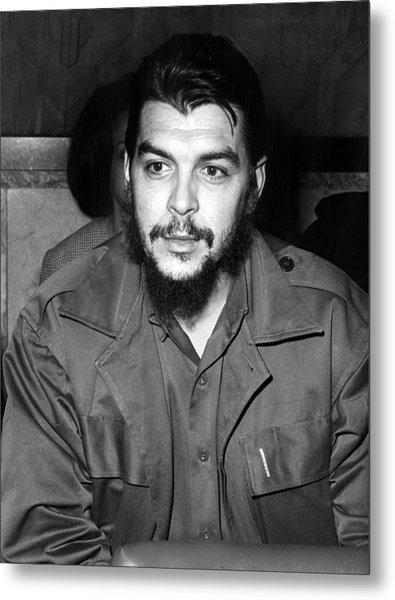 Ernesto Che Guevara Steps Off A Plane Metal Print by Everett