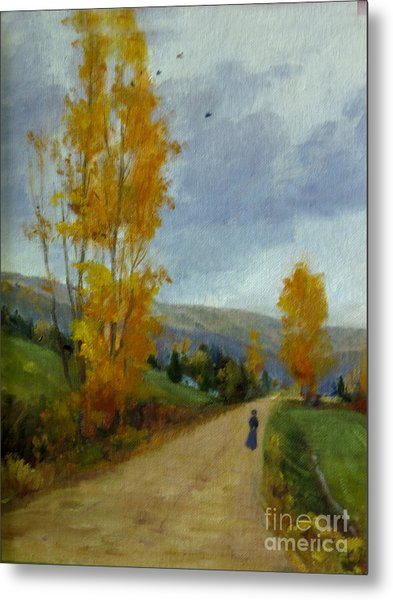 Fall Day Metal Print by Victoria  Broyles