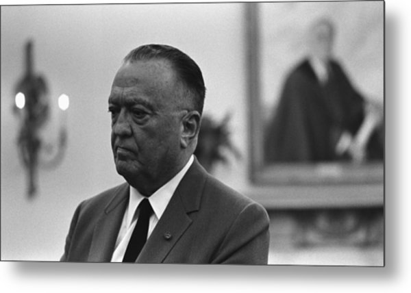 Fbi Director, J. Edgar Hoover, In An Metal Print by Everett