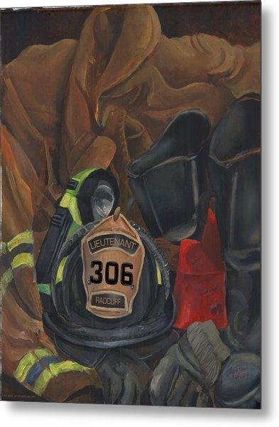 Fireman Commission  Metal Print