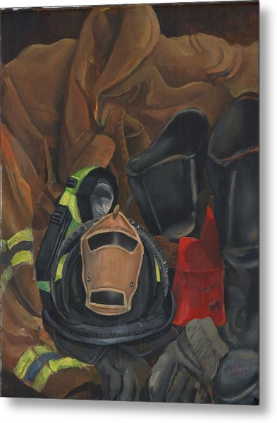 Fireman Personalized Metal Print