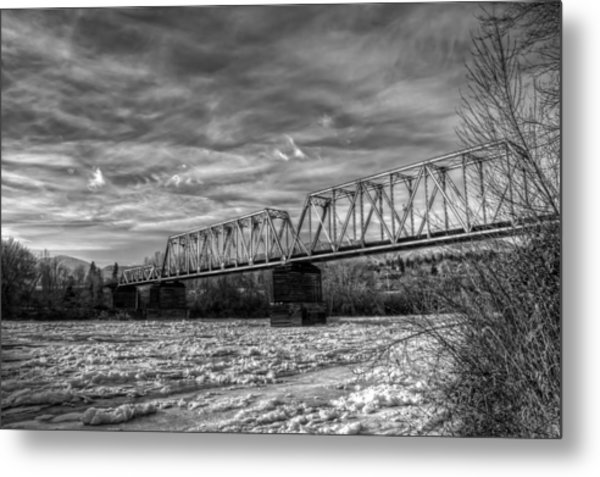 Frozen Tracks Metal Print